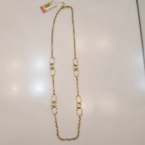 ETIENNE AIGNER GOLD TONE 36 INCH NECKLACE